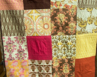 Handmade Throw or Lap Quilt