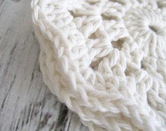 Eco Friendly Handmade Coasters | Drink Coasters | Crochet Coasters | Housewarming Gift | Coaster Set of 4