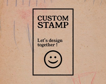 EX LIBRIS stamp custom - rubber rubber mounted on foam & support wood - personalized gift - for book lovers