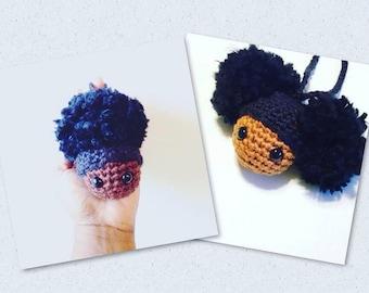 Afro Puffs Keychain Pattern ~ Crochet Pattern