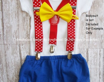 Circus Birthday outfit carnival cake smash bow tie Dot suspenders Royal blue diaper cover invitation prop baby shower 9 12 18 24 toddler
