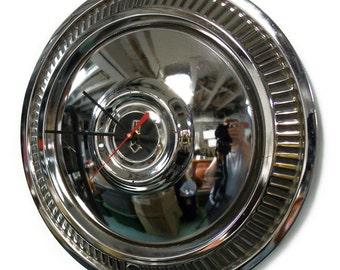 Vintage Aftermarket 1975 - 1980 Plymouth Fury Volare Hub Cap Wall Clock - 1976 1977 1979 Knock Off Design Hubcap