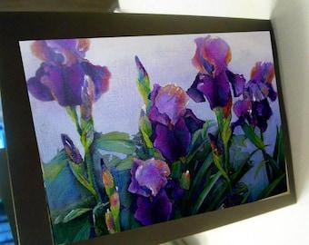 greeting card floral purple iris