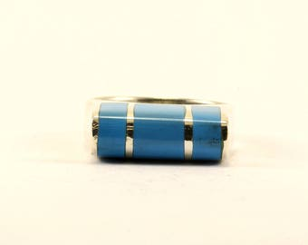 Vintage Turquoise Ring 925 Sterling Silver RG 2539