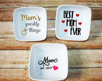 Jewelry Dish, Mom's Jewelry, Sparkly Things, Mother's Day, Grandma Gift, Trinket Dish, Gift for Mom, Gift for Grandma, Best Mom Ever
