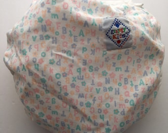 Vintage pastel alphabet diaper cover bloomer by Ecology Kids