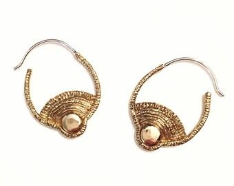 Day Earrings, Sun Earrings, Sunset Earrings, Sunrise Earrings, Small Hoop earrings, Intricate Earrings, Geometric Earrings, Circle Earring