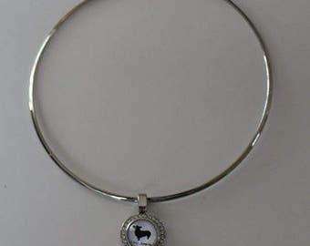 A Corgi Loves Me - Silver Choker Style Necklace