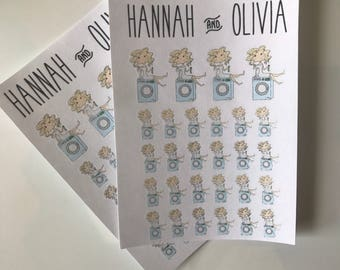 Cute Girl / character / Machine wash / Blonde - Matte Stickers / Planner Stickers