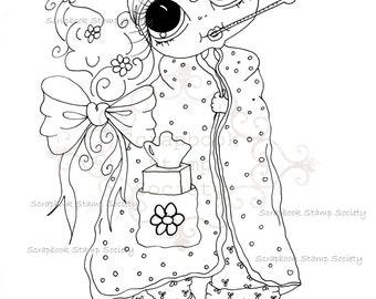 INSTANT DOWNLOAD Digital Digi Stamps Big Eye Big Head Dolls Digi  IMG774 2 By Sherri Baldy