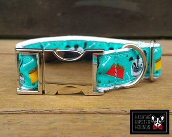 CLEARANCE S LUXE Collection Dog Collar - Hungry Hounds