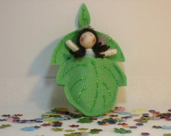 Fairy in a leaf bed