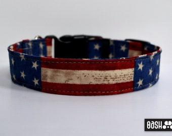 American Flag Dog Collar w/o matching Leash