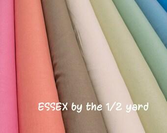 Robert Kaufman ESSEX Linen Cotton Blend  fabric by the 1/2 yard