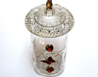 Papillon rouge Mason Jar, fée Lites pot, Decor réutilisé, décoration rustique, issus de Mason Jar, Accent rouge maison, décoration en verre rouge