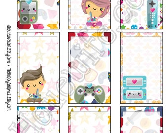 Play Game, Happy Planner stickers [114] , Full box, A5 PDF, Instant download