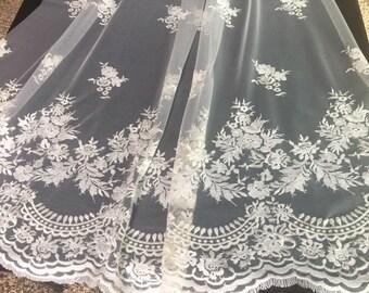 Ivory Lace Bridal Veil
