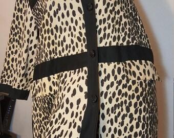 FREE  SHIPPING    1950  Leopard  Dress