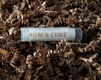 Rum & Coke Lip Balm - Moisturizing - Natural - Flavored Lip Balm - Lip Care - Handmade