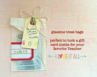"3x5.5"" Flat Glassine Merchandise Treat Bags . Candy Buffet Sacks . Wedding Reception Favor Goodie Bags . Planner Supplies Midori Filofax"