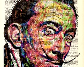 "Decoration Art Print page Popart,Vintage posters,Digital illustration Drawing,painting,Home & Living,Office dictionaryTribute to ""Dali"""