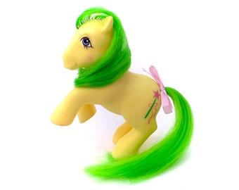 G1 My Little Pony Magic Star Non-So Soft Nss Deflocked Standing Hind Legs UK Original Vintage MLP 80s Hasbro Earth Ponies Retro NICE Flocked