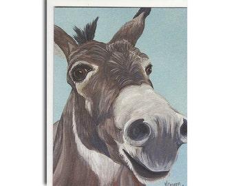 Donkey Notecard - Donkey Card - Farm Animal Stationery