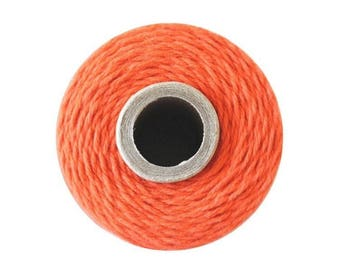 Orange Bakers Twine - Solid Mandarin - 240 Yard Spool