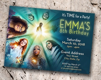 A Wrinkle in Time Personalized Birthday Invitation