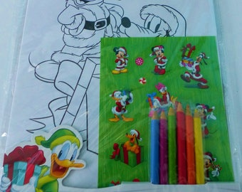 set of 15 coloring for kids mickey