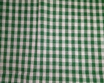 Green Gingham Fabric
