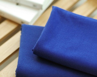 Solid Cotton Jersey or Ribbing Knit Fabric for Binding Necklines, Cuffs, Armholes - Dark Blue - By the Yard 38334