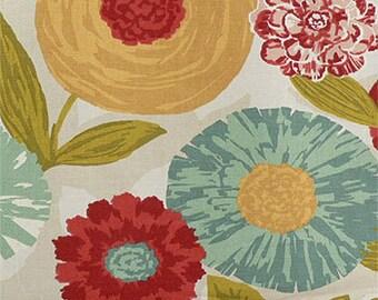 Window Valance, Lined or Unlined Curtain Valance 50x14 50x16 50x18 50x20 Custom Window treatments. Luna Flora Poppy.