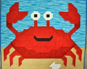 Crab quilt PATTERN with multiple sizes