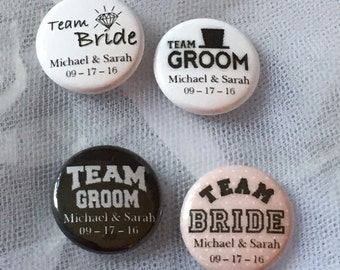 Personalized Wedding Buttons (Set of 20)