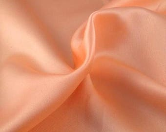 Peach Crepe Back Satin Bridal Fabric for wedding dresses, decorations, drapes, crafts crepeback by the yard