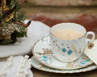 Teacup Candles Handmade Limited Edition -  Mother's Day Gift by Vintage Flicker