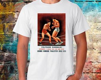 Politeama Garibaldi Boxing Vintage Italian T-shirt - Classic boxing Tee - Fighter Tshirt - Worldwide shipping