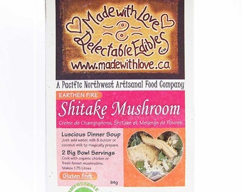 Outdoor Gift - Earthen Fire Shitake Mushroom Soup Mix Artisan Gourmet Dinner Mixes & DIY Soup Easy Real Whole Food Fast - Natural Cream Soup