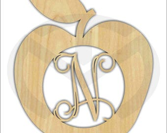 Apple Unfinished Wood Laser Cut-Out, Door Hanger, Wall Decor, Personalized, Various Sizes, Kitchen decor, Teacher Appreciation gift