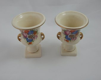 Vintage Two Ceramic Small Vases