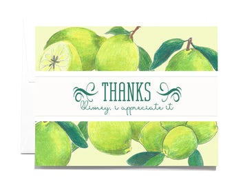 Thank You Lime Note Card