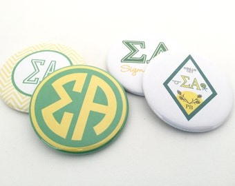 Sigma Alpha Pocket Mirrors and Magnets