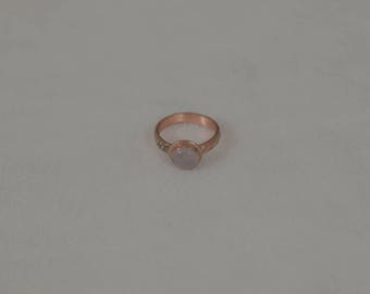 Rose Quartz Helen Ring