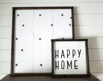 Happy Home Wood Sign