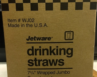 Wrapped Drinking Straws