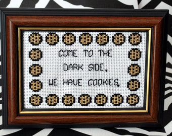 Come to the Dark Side - We Have Cookies PDF Cross Stitch Pattern