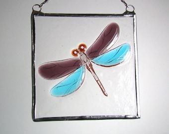 Dragonfly Fused Glass Light Catcher Suncatcher