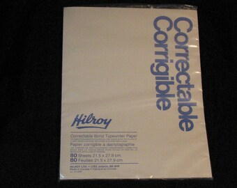 Vintage Hilroy Erasable Bond Typing Paper Correctable Made In Canada 80 pgs NOS New Old Stock
