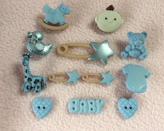 BABY BOY ~ Dress It Up Craft Buttons